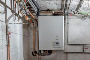 Chaudiere et circuit d'eau chaude sur Groslay